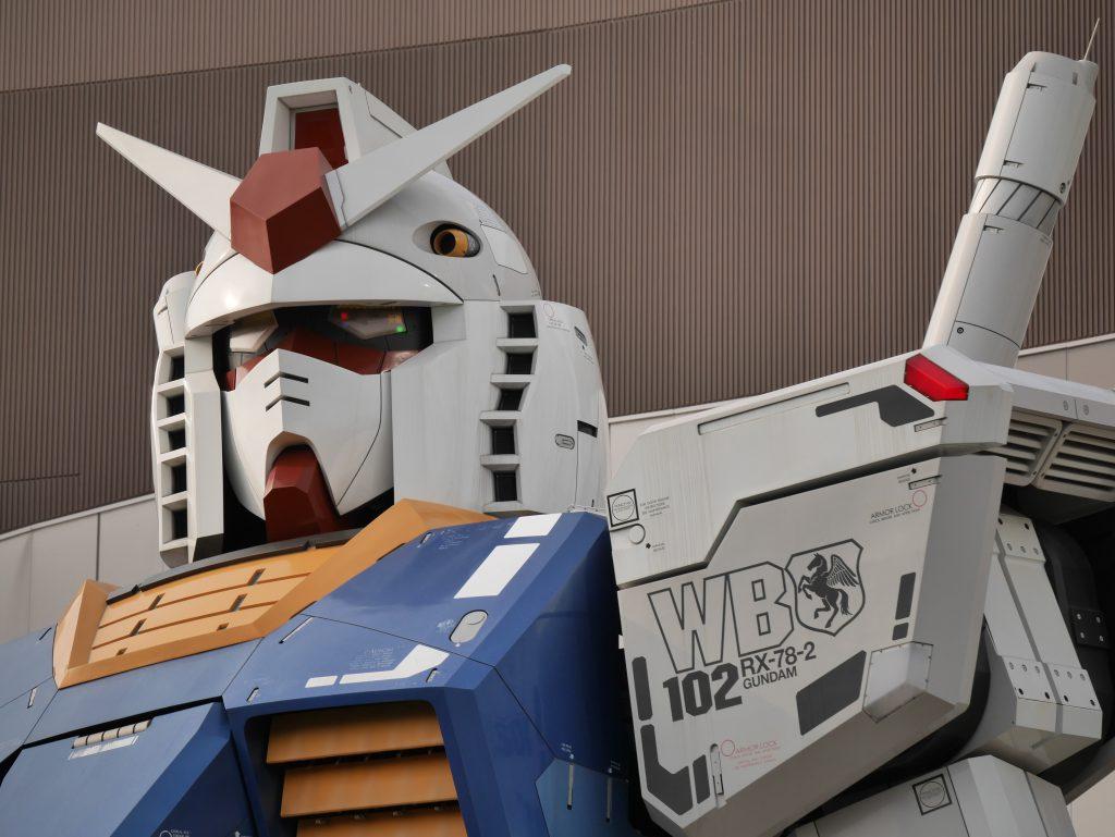 Japanese robot Gundam statue