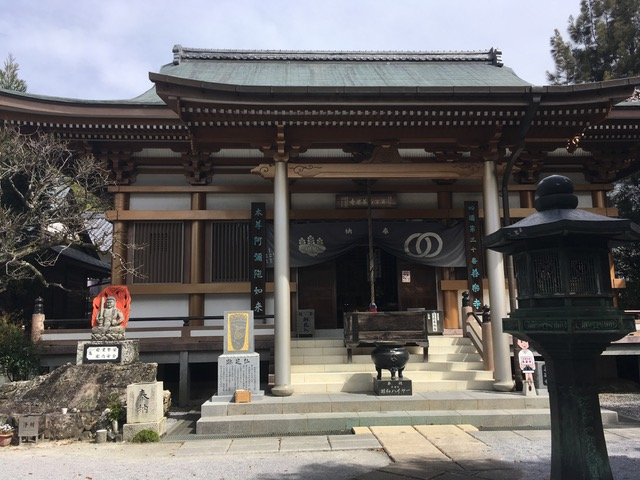 The main hall of a Buddhist temple seen from the outside