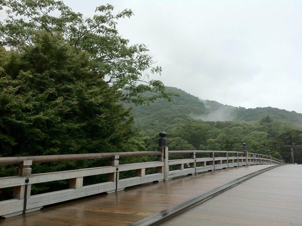 A long, wooden bridge