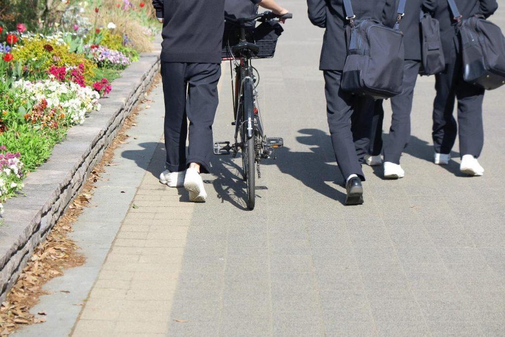 Middle schoolers in school uniforms